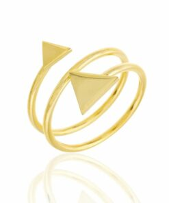 Anillo Doble Triangulo Gold