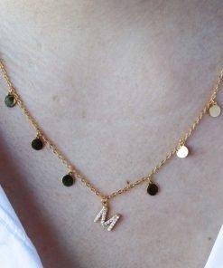 Collar Inicial Chapas Oro