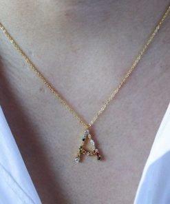 Collar Inicial Circonitas Oro